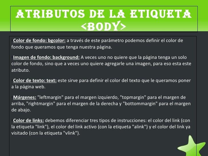 Etiquetas Color Html la Etiqueta ➢color