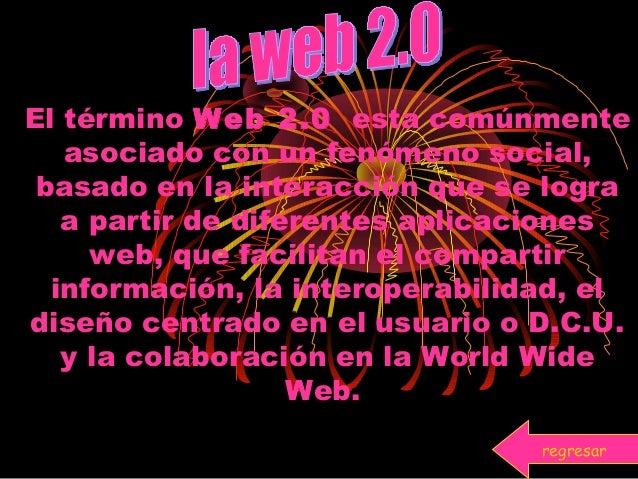 El término Web 2.0 esta comúnmente asociado con un fenómeno social, basado en la interacción que se logra a partir de dife...