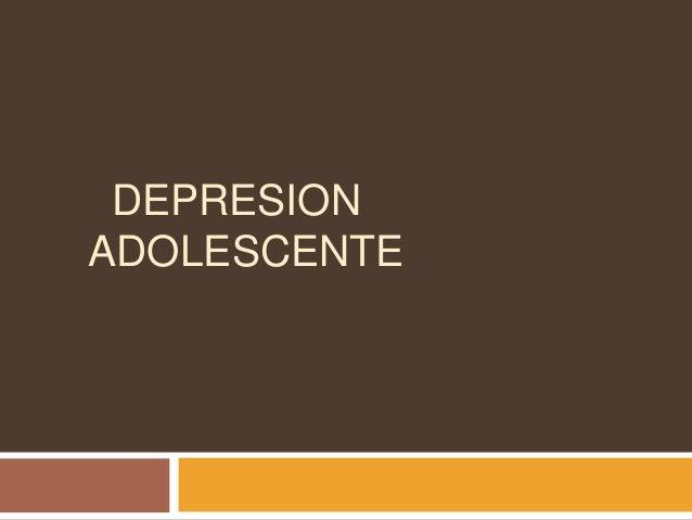 DEPRESION ADOLESCENTE