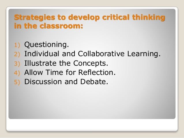 Strategies To Promote Critical Thinking in the Elementary