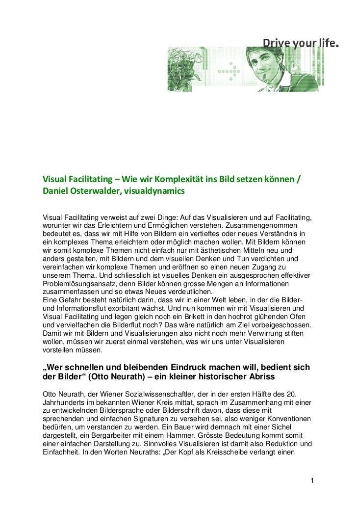 Visual Facilitating – Wie wir Komplexität ins Bild setzen können /Daniel Osterwalder, visualdynamicsVisual Facilitating ve...