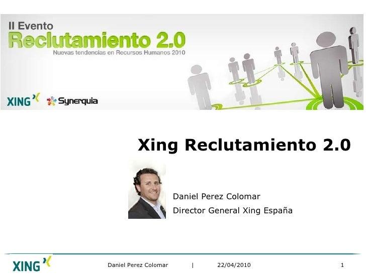 Daniel Perez Colomar Reclutamiento 2.0