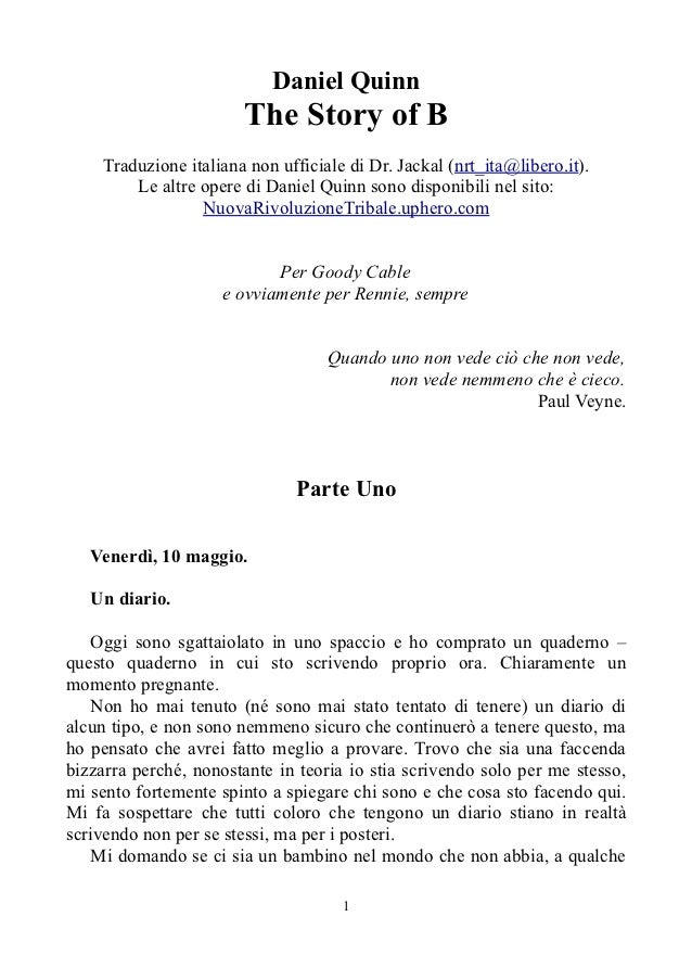 Daniel Quinn - The Story of B (libro in italiano)