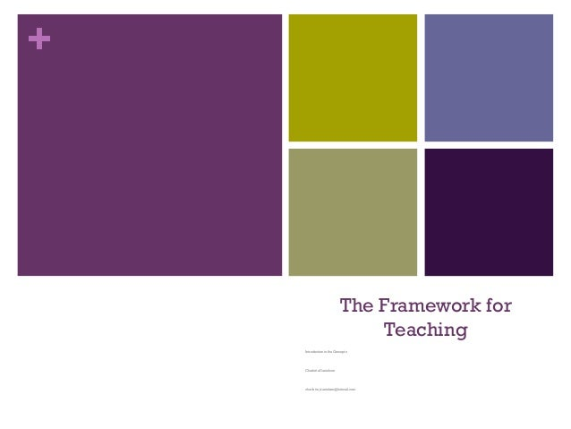 + The Framework for Teaching Introduction to the Concepts Charlotte Danielson charlotte_danielson@hotmail.com