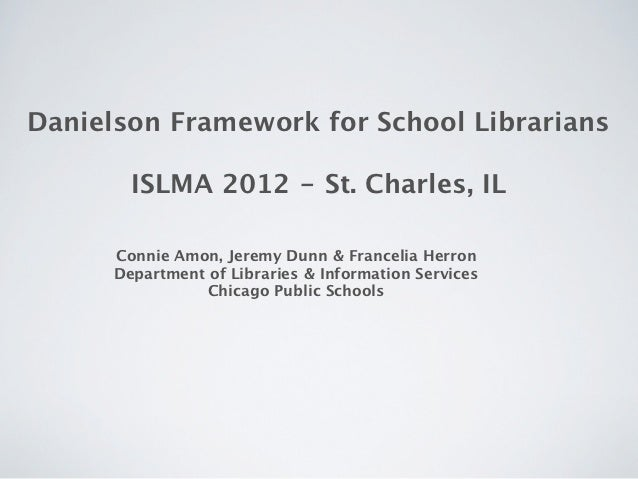 Danielson Framework for School Librarian