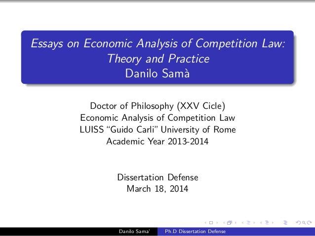 Phd Thesis Dissertation Economics