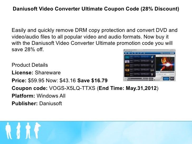 Daniusoft video converter ultimate coupon code (28