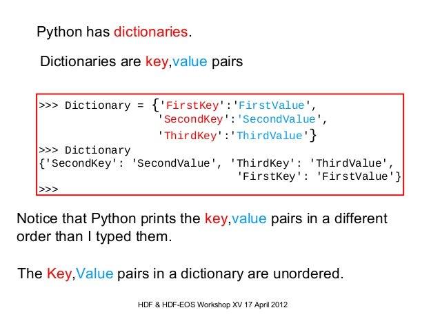 Using HDF5 a... Python Arithmetic
