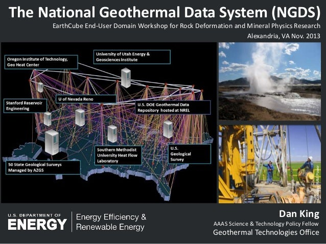 EarthCube Activities at DOE by Dan King, DOE Geothermal Technologies Office Fellow