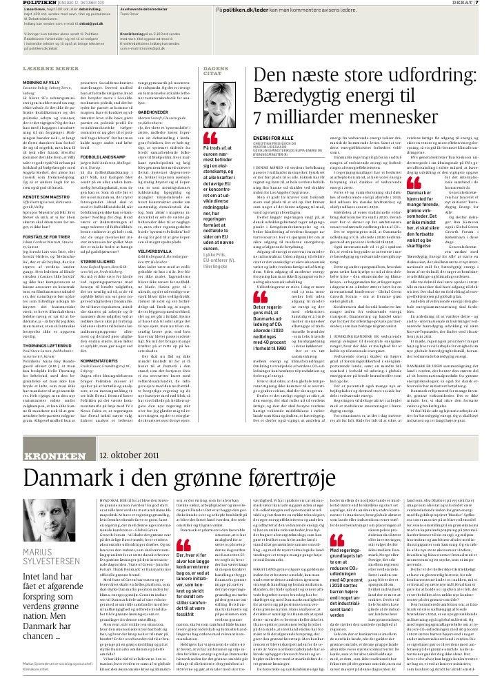 POLITIKEN ONSDAG 12. OKTOBER 2011                                                                                         ...