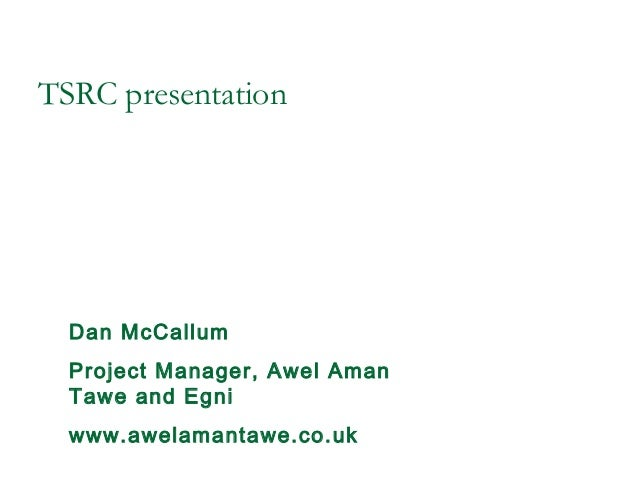 Dan mc callum, awel aman tawe, brass and tsrc april 2013