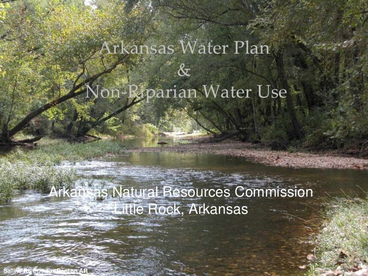 Arkansas Water Plan                                     &                           Non-Riparian Water Use              Ar...