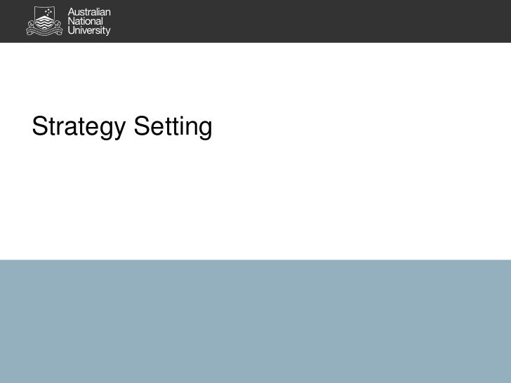 Strategy Setting<br />