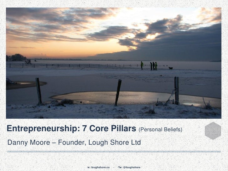 Entrepreneurship: 7 Core Pillars (Personal Beliefs)Danny Moore – Founder, Lough Shore Ltd                       w: loughsh...