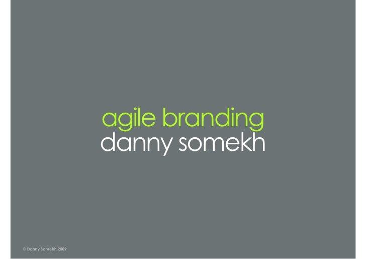 Danny Somekh - FOWD London 2009
