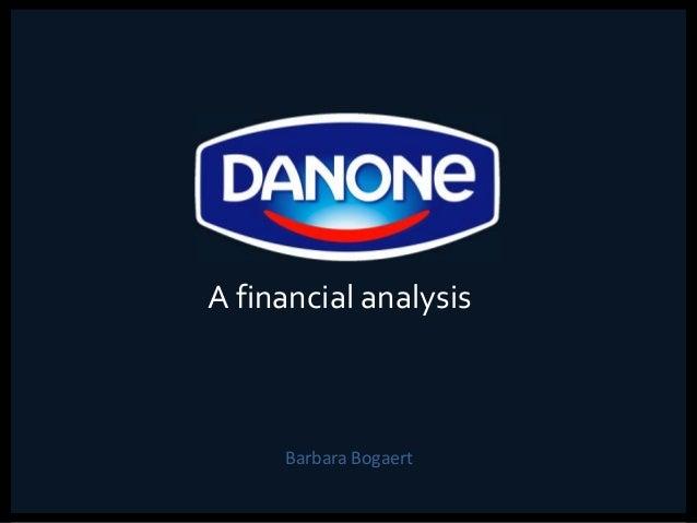 Barbara Bogaert A financial analysis