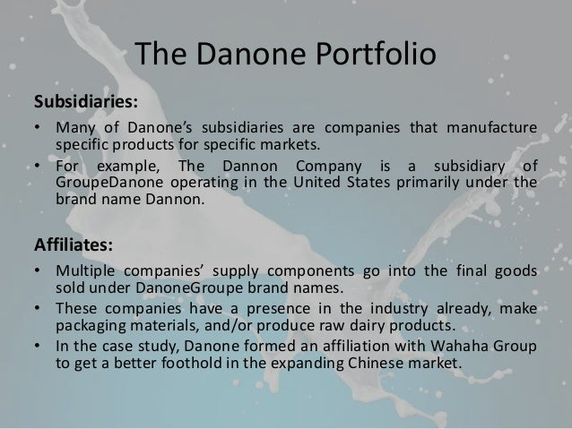 wahaha danone case study The wahaha joint venture company is a food and beverage joint venture wahaha has embroiled danone in multiple attacks the case was withdrawn because it.
