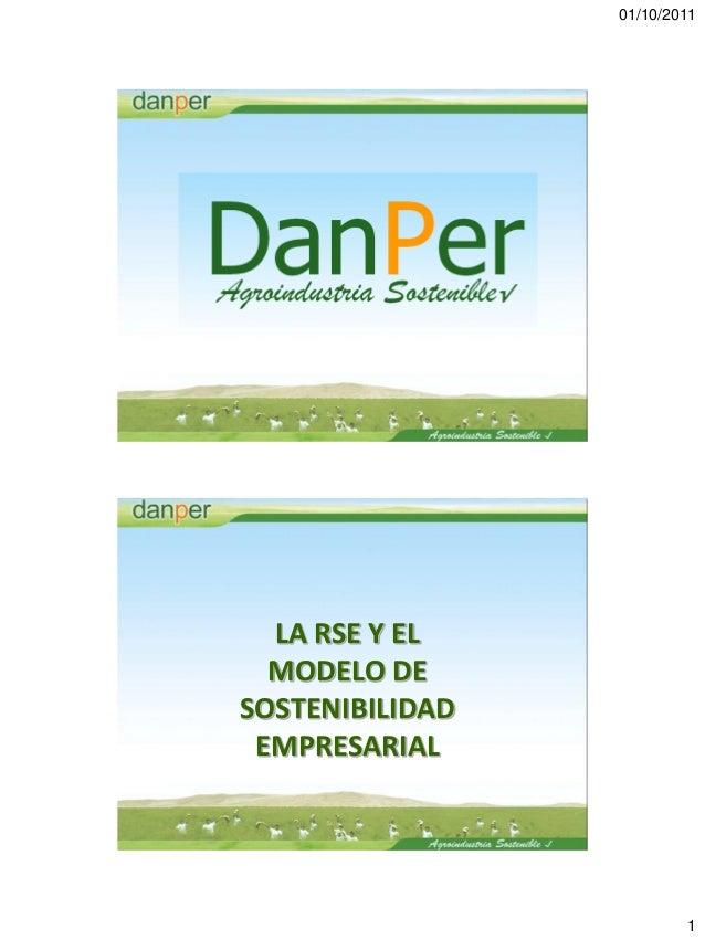 01/10/2011  LA RSE Y EL  MODELO DESOSTENIBILIDAD EMPRESARIAL                         1