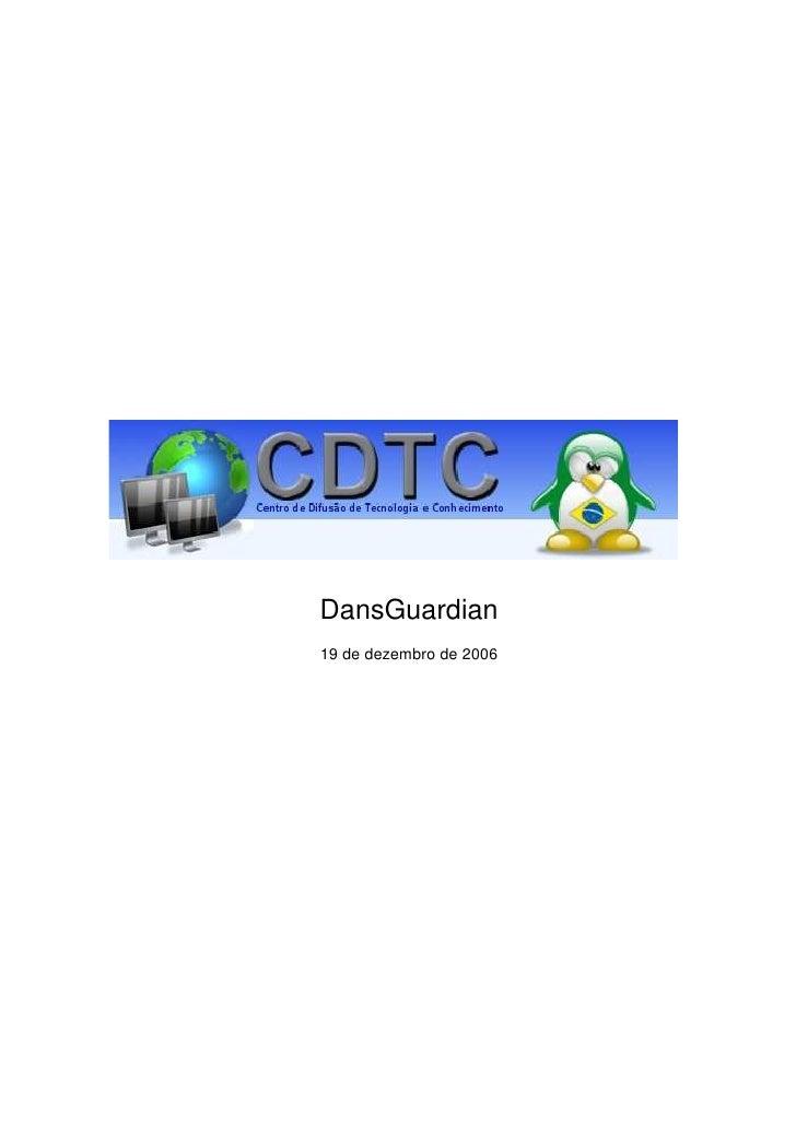 DansGuardian 19 de dezembro de 2006