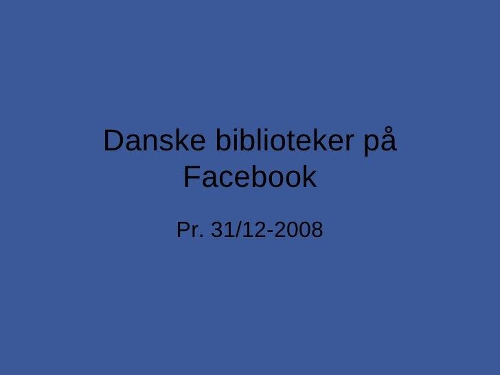 Danske biblioteker på Facebook
