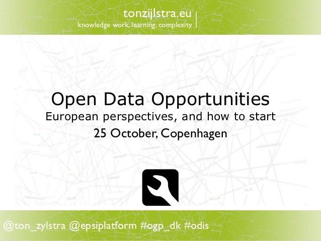 Open Data Opportunities