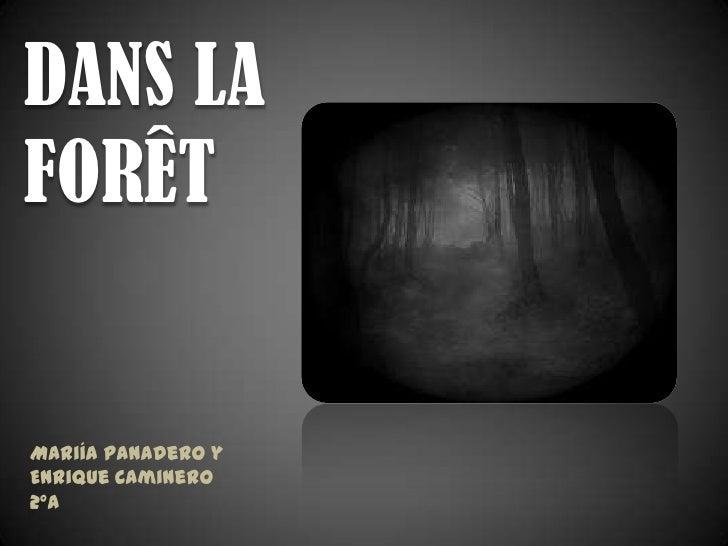 DANS LAFORÊTMariía Panadero yEnrique Caminero2ºA