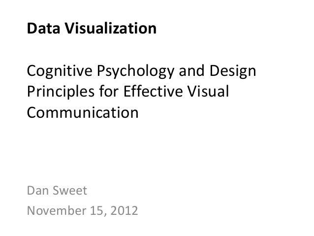 Data VisualizationCognitive Psychology and DesignPrinciples for Effective VisualCommunicationDan SweetNovember 15, 2012