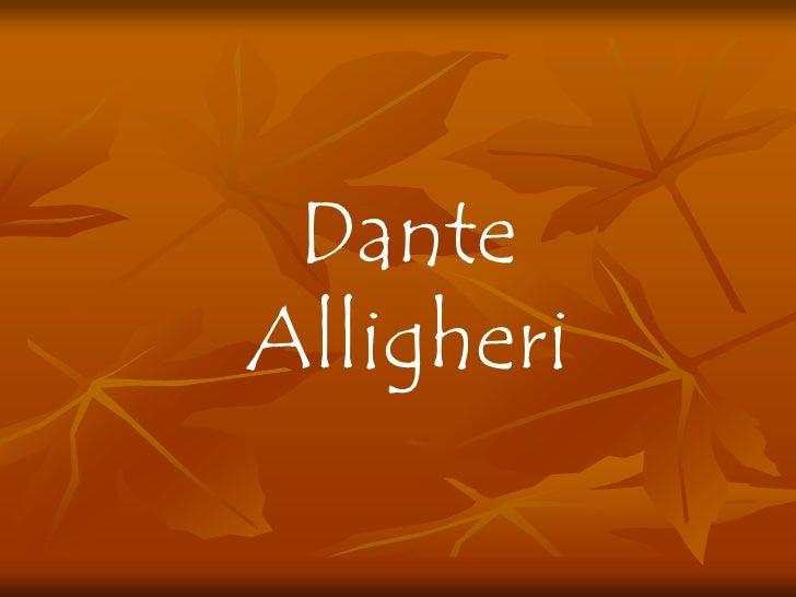 Dante Background