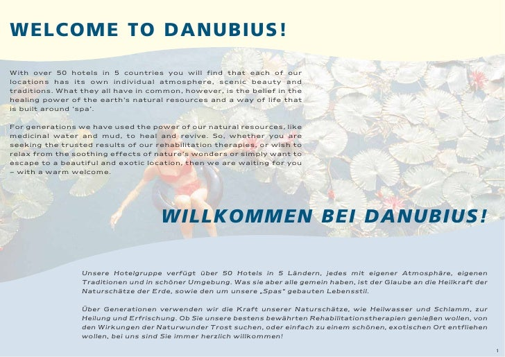WELCOME TO DANUBIUS!  With over 50 hotels in 5 countries you will find that each of our locations has its own individual a...