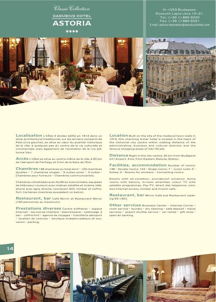 Danubius Hotel Astoria in Budapest, Hungary