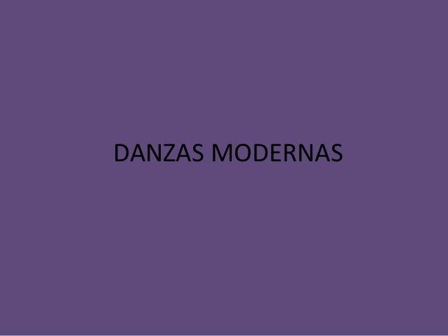 DANZAS MODERNAS