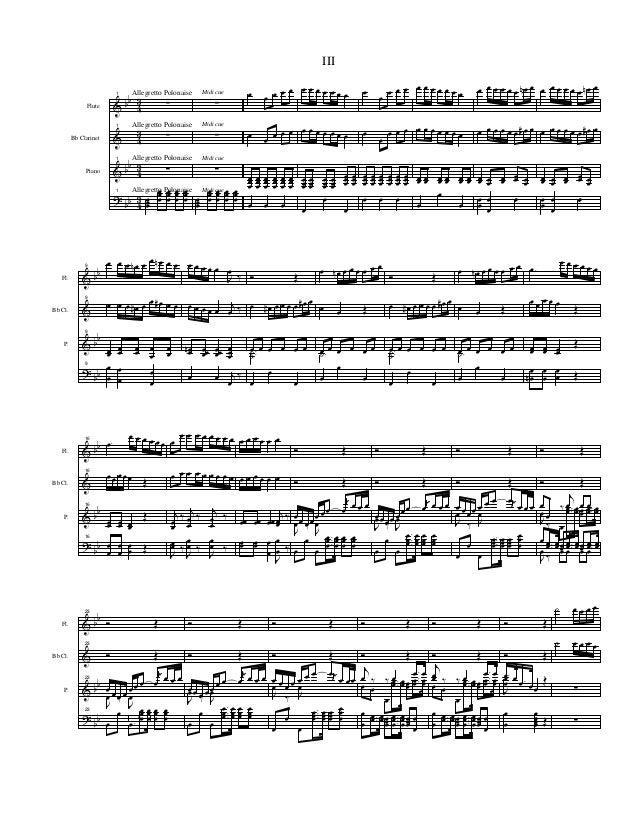& & & ? bb bb bb 4 3 4 3 4 3 4 3 Flute Bb Clarinet Piano Allegretto Polonaise Allegretto Polonaise Allegretto Polonaise Al...