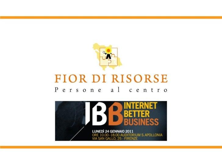 Ignite IBB: Osvaldo Danzi - Creare opportunità di business con Fior di Risorse