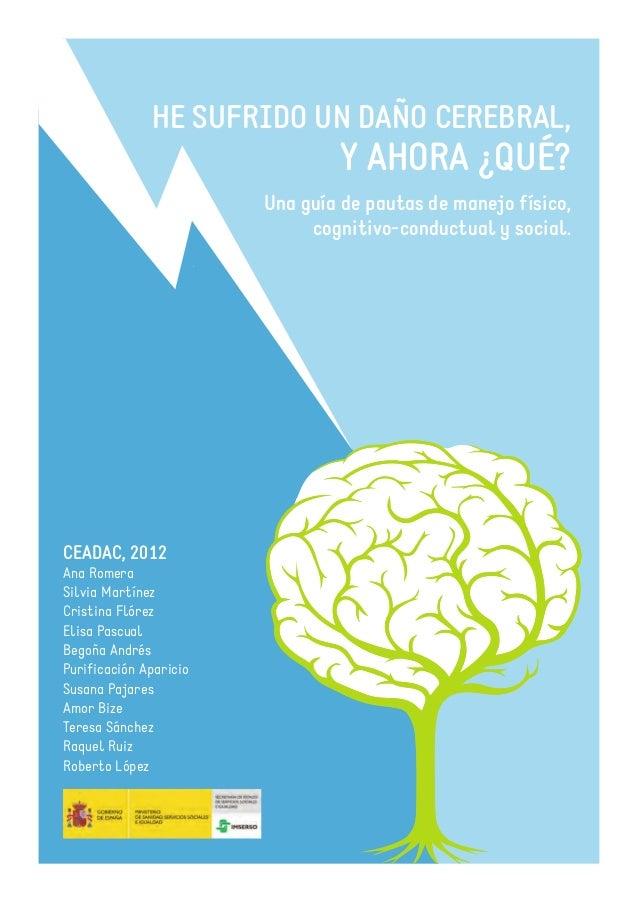 HE SUFRIDO UN DAÑO CEREBRAL,Y AHORA ¿QUÉ?Una guía de pautas de manejo físico,cognitivo-conductual y social.CEADAC, 2012Ana...