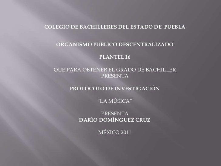 <br />COLEGIO DE BACHILLERES DEL ESTADO DE  PUEBLA<br /><br />ORGANISMO PÚBLICO DESCENTRALIZADO<br /><br />PLANTEL 16<b...