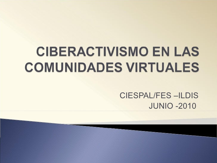 Ciberactivismo avances de Investigación CIESPAL María Belén Calvache