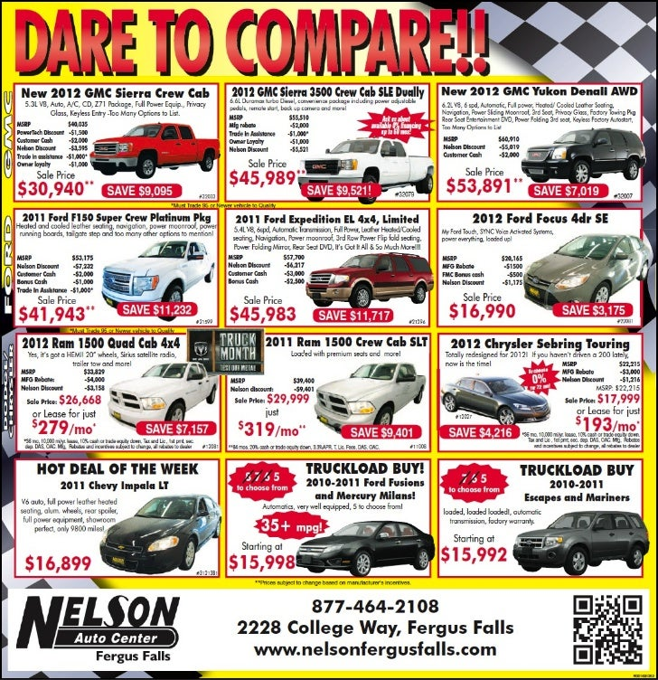 Dare To Compare At Your GMC Ford RAM dealer near Fargo