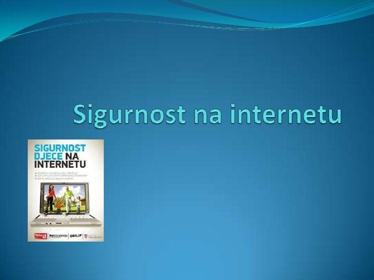 Sigurnost na internetu<br />