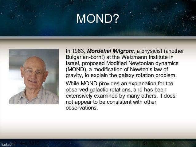 Resultado de imagen de Mordehai Milgrom