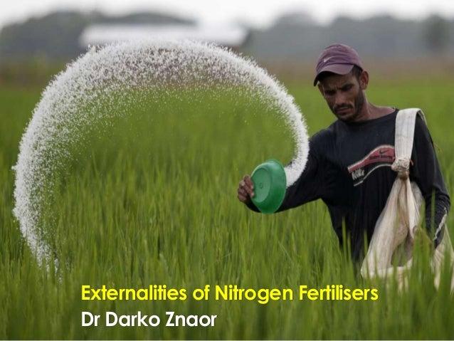 Externalities of Nitrogen Fertilisers Dr Darko Znaor