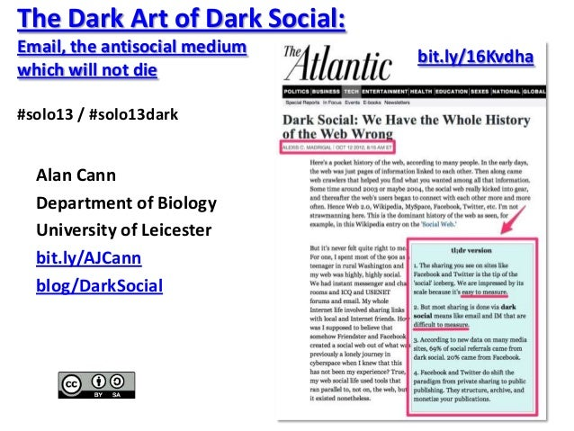 The Dark Art of Dark Social: Email, the antisocial medium which will not die