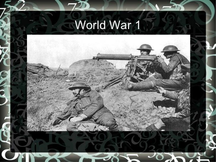 Darraghs ww1 presentation