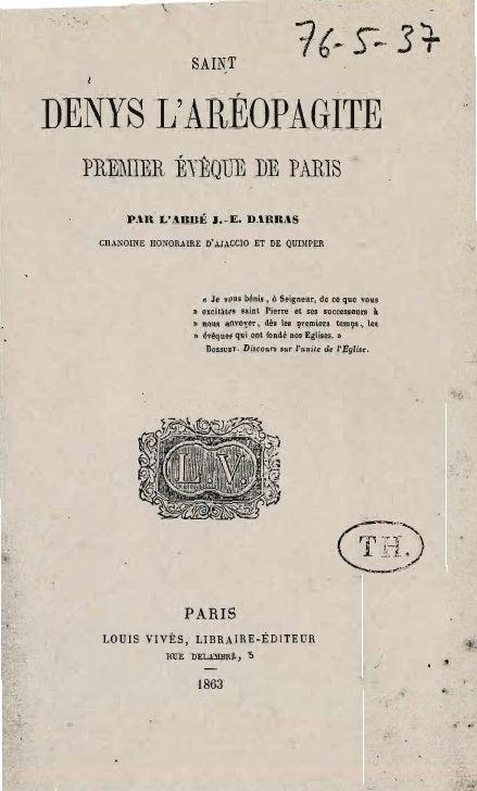 Darras joseph-epiphane-saint-denys-l'areopagite-premier-eveque-de-paris-louis-vives-1863