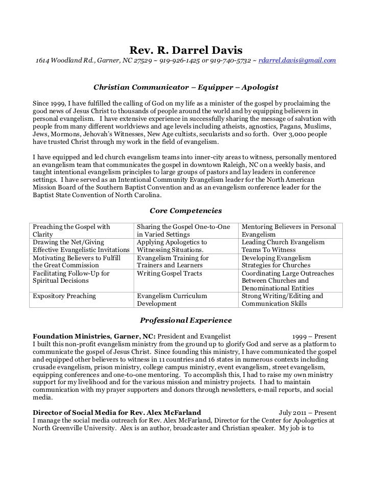 Ministry Resume Examples Urgup Kapook Co