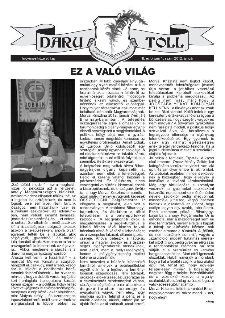 Daru Toll 2012. 1. szám