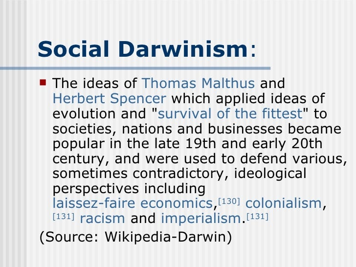 Social Darwinism And Herbert Spencer Essay