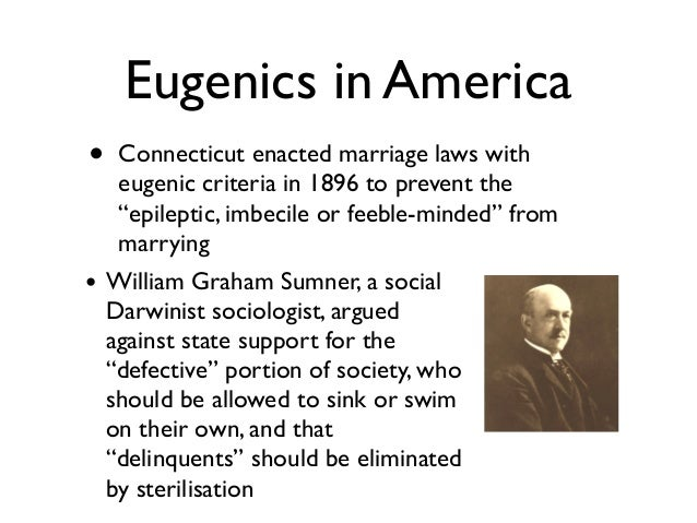 eugenics of darwinism With the publication of charles darwin's on the origin of species by means of natural selection (1859), the concept of evolution began to revolutionize the way people thought about the human condition herbert spencer and other proponents of what came to be known as social darwinism adhered to the.