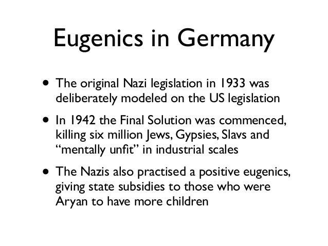 Darwinism and eugenics