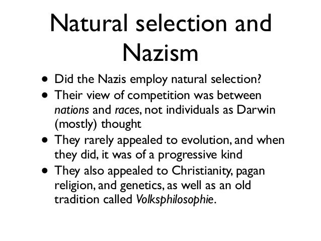 eugenics of darwinism Notoriously, the second international congress on eugenics [1921] defined eugenics as the self-direction of human evolution and saw eugenics as applied evolutionary science with intellectual, logical and factual roots in several linked branches of science, medicine and scholarship if you doubt this .
