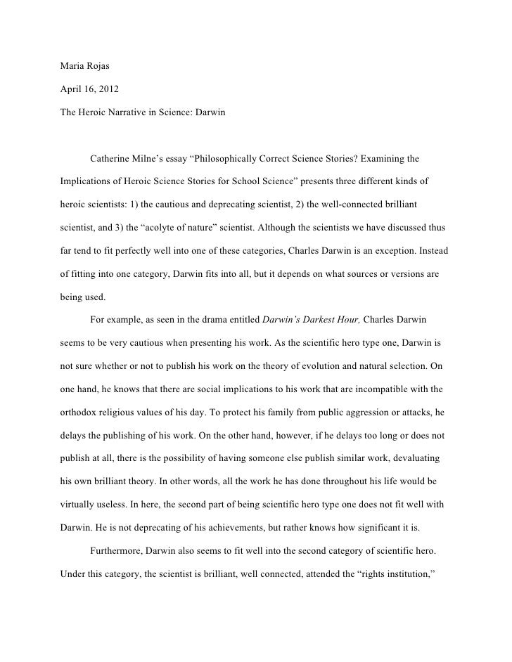 Darwin paper